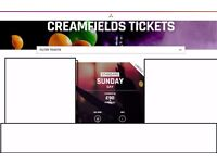 CREAMFIELDS FESTIVAL 5 TICKETS SUNDAY AVAILABLE