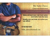 CARPENTER - HANDYMAN - FLAT PACK ASSEMBLY - PAINTER DECORATOR -CONTACT DAWES CONSTRUCTION