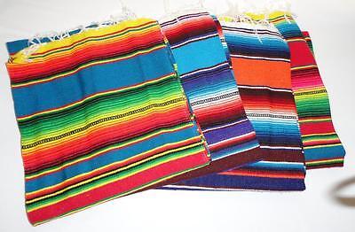 Sarape Serape Mexican Blanket, Saltillo Southwestern 55 x 22 Inches