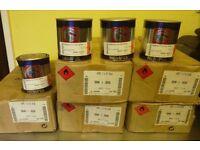 6 tins HEMPEL'S H-VEE I56540 - YELLOW