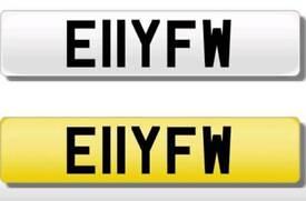 Private number plate, private registration plate, ELLY, ELLIOT, E11YFW