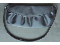 Satin Silver Shoulder Bag