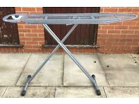 IRONING BOARD LIGHT WEIGH ALLOY TYPE METAL PLEASE SEE ALL PHOTOS NEED NEW COVER