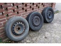 3 steel wheels and tyres - Vivaro/Trafic/Primastar