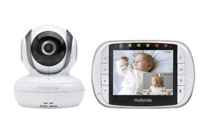 NEW Motorola MBP36S Wireless Video Baby Monitor with 3.5 Inch Color LCD Screen