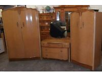 Antique Maple 1960s Bedroom Suit Very Good Condition