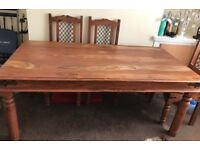 Solid wood dining table&chairs