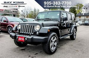 2016 Jeep WRANGLER UNLIMITED SAHARA, NAVI, REMOTE START, AUTO, S