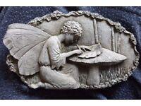 Small Stone Garden Plaque 'Fairy' - 17.5cm x 10cm