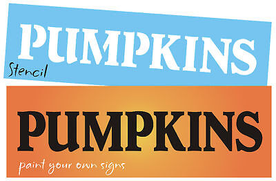 Country Prim Stencil Pumpkins Block Font Fall Harvest Market Farm Easy Art Signs - Easy Halloween Pumpkin Crafts