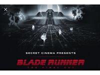 1 x Secret Cinema Blade Runner Phoenix (Advanced) tickets - Sat 31 March