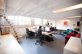 Large desk spaces, Hackney Wick/Fish Island, Bow side. On the River Lea navigation. 500Mbs Internet