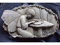 Small Stone Garden Plaque 'Fairy' - 17.5cm x 10cm £2 TO GO TODAY