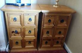Santa Fe CD Cabinets/Side Tables (2 available)
