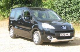 Peugeot Partner Tepee. 1.6 Diesel, Automatic, Black, registered November 2011