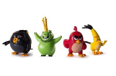 Angry Birds Collectible Figures 4 Pack Gift Set #2 Red, Bomb, Chuck and Leonard