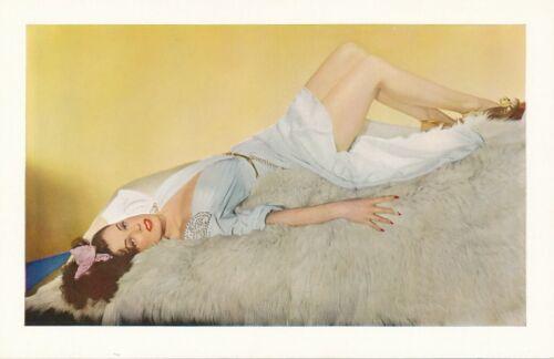 REBEL RANDALL Hurrell Girl Original Vintage ESKY Cheesecake Color Postcard Photo
