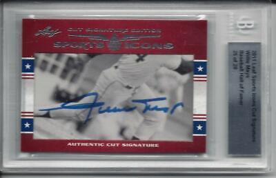 Willie Mays 2011 Leaf Sports Icons Cut Signature Auto -