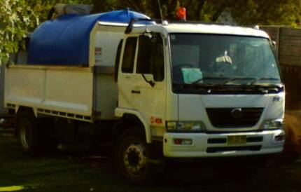 UD NISSAN PK9 2010 8 TONNE TIPPER & ALLQUP WATERCART Gladesville Ryde Area Preview