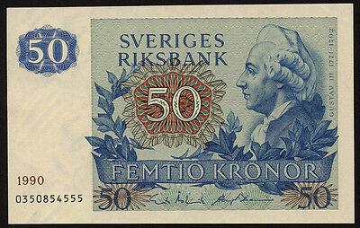 """Schweden / Sweden 50 Kronen 1982-1990 Pick 53d (1) """"Gustav III."""""""