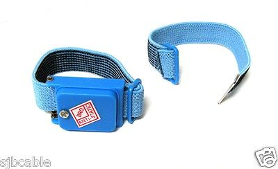 NEW BLUE Anti Static Antistatic Wristband Strap Band Cordless US SELLER