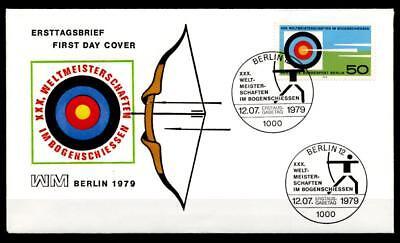 Bogenschießen. WM-1979, Berlin. FDC(2). W.Berlin 1979