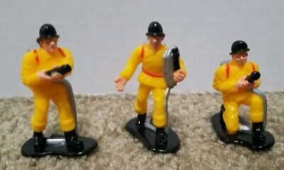 Lot of 3 Boley Firemen 2in. Toy Firefighters Figures - Toy Firemen