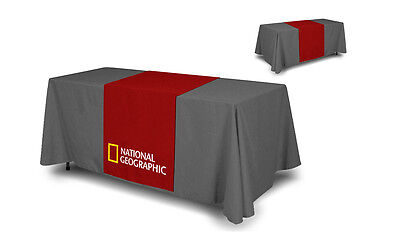 Custom Full Color Trade Show Table Runner 24x 72 Table Cloth Not Included