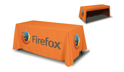 Custom Full Color Printing 6 Tablecloth Cover Trade Show Event - 3 Sided