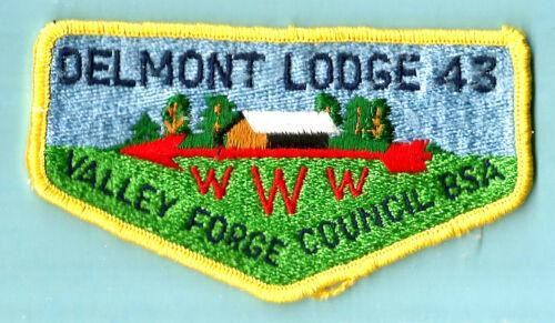 OA Lodge 43-s DELMONT yel bdr vg 70