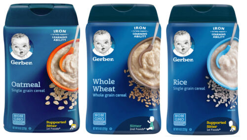 Gerber Baby Cereal Variety Pack - First Stage First Foods - Pack of 3