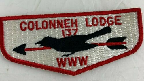 BSA Colonneh Lodge 137 WWW Camp flap patch Order of the Arrow, Near Mint