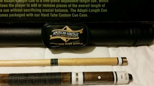 American Heritage adapti - length  pool cue and case combo.