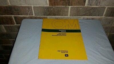 Oem John Deere 1600m Series Mounted Chisel Plow Operators Manual Book Om-n159303