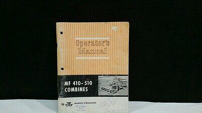 Vintage Massey- Ferguson 410-510 Combines Operators Manual.