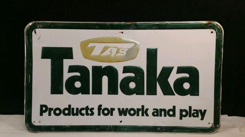 VINTAGE TANAKA METAL SIGN.