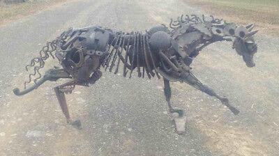 Sculpture Steel Metal Welded Original Horse Equestrian Unique Indoor Outdoor Art ()