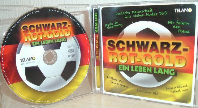 15 Fussball Knaller - SCHWARZ-ROT- GOLD  EIN LEBEN LANG   (2014)