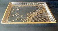 Plateau In Cristallo Art Nouveau Oro Fine Intaglio Baccarat Scuola Nancy 1900 -  - ebay.it