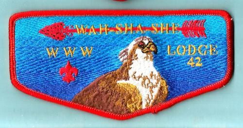 OA Lodge 42-s WAHSHASHE Blu Bgd, Ozak Council mgd