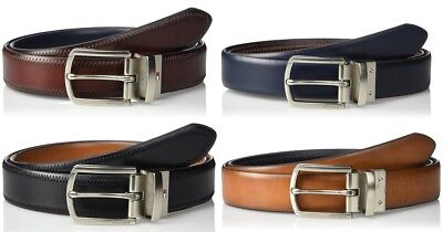 - New Tommy Hilfiger Mens Reversible Feather Edge Stitched Leather Belt 11TL02X188