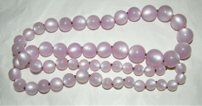 1950s Jewelry Styles and History Lilac Purple Moonglow Necklace - 29