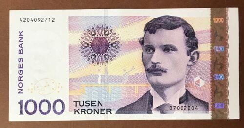 NORWAY 1000 Kroner 2004 Edvard Munch P-52 UNC Banknote