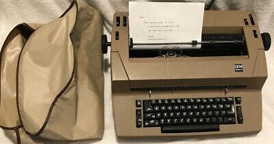Vintage Ibm Selectric Ii 2 Correcting Typewriter Beige Cover Ribbon Ink