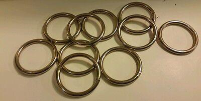 "10 Carter Pet Supply 2"" Inch O Rings Ring Webbing Belts Buckle Bag"