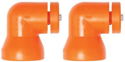 2 Shield Mounting Elbows Loc-line Usa Original Modular Hose System 60531