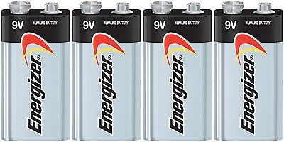 4 Energizer Max 9V 9 Volt Alkaline Batteries  522 1604  EXP 12/2024 ()