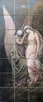 Mural Tumbled Marble Art Victorian Fantasy Tile #486