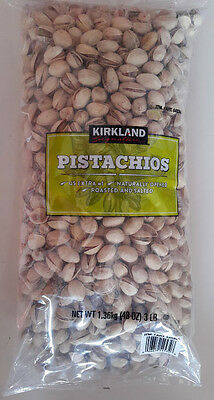 Salted California Pistachios - Pistachios California Roasted and Salted 3 LBS Bag,InShell Naturally Opened,Nuts