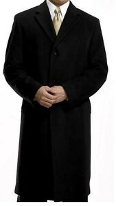 Mens Stylish Italian CASHMERE Coat ($230) ~ NEW - Charcoal